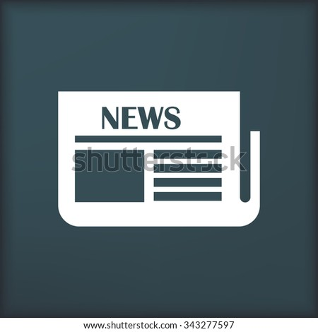 Flat news icon - stock vector