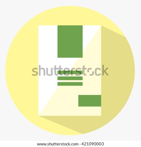Flat product icon. Vector good sign. Modern store item. Abstract pack - stock vector