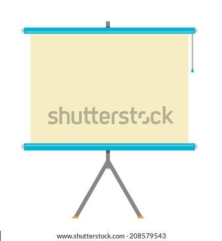 Flat Projector Screen Vector Illustration  - stock vector