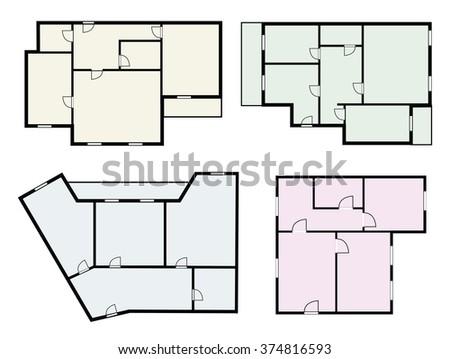 flat projects vector set  - stock vector