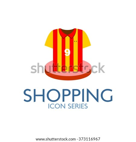 Flat Shopping Icon. Vector Illustration. Sport section icon - stock vector