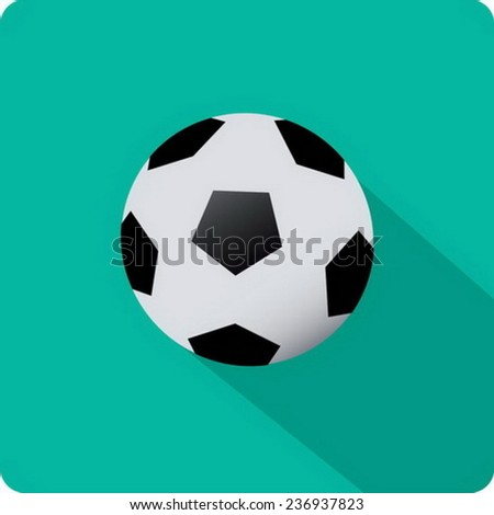 flat soccer ball icon - stock vector