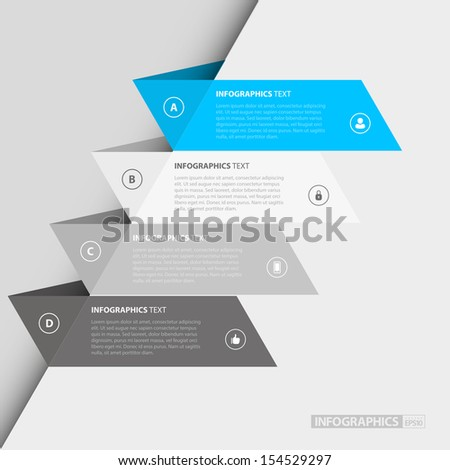 Flat Step by Step Infographics / EPS10 Vector Illustration / - stock vector