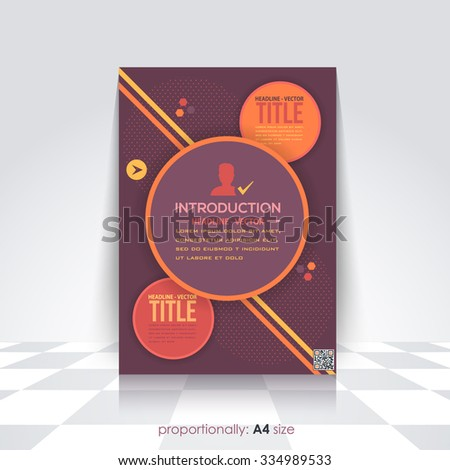 Flat Style Colorful Business A4 Flyer and Brochure. Catalog Cover Design, Corporate Leaflet and Background Template - stock vector
