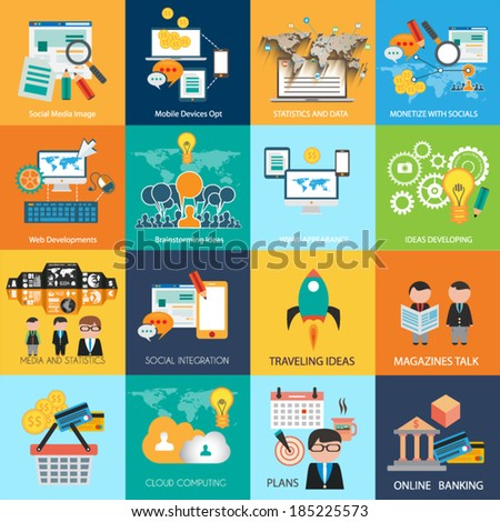 Flat Style Diagram - stock vector