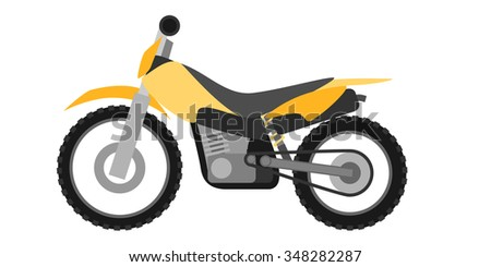 Flat style enduro motorcycle - stock vector