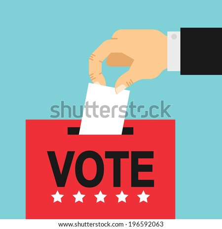 flat style illustration of election day - stock vector