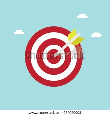 flat target - stock vector