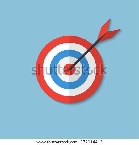 Flat target - Business aims - Smart solutions - Target ideas - stock vector