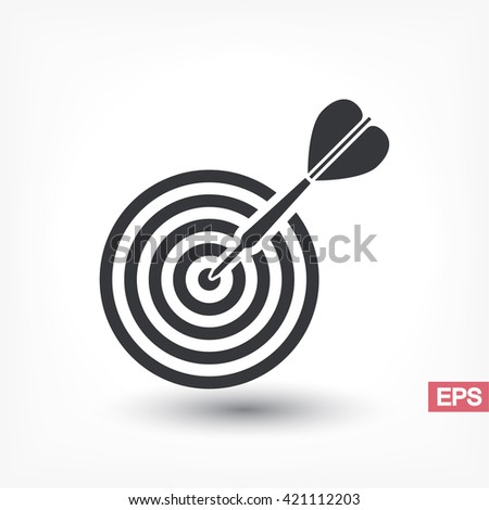 flat target with dart  . icon. Vector Eps 10 - stock vector