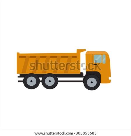 Flat Truck Vector Illustration EPS10 - stock vector