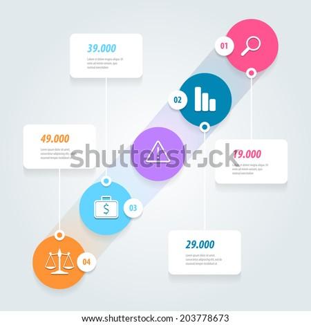 Flat UI Design. Infographics vector design template. Eps 10. - stock vector