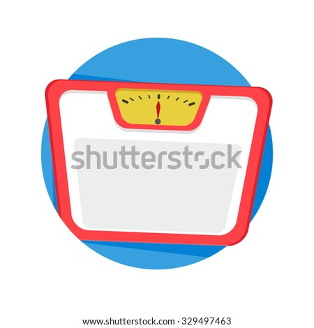 flat Vector icon - illustration of balance weight icon isolated on white - stock vector