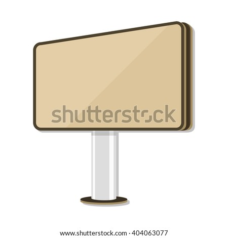 flat Vector icon - illustration of billboard icon isolated on white - stock vector