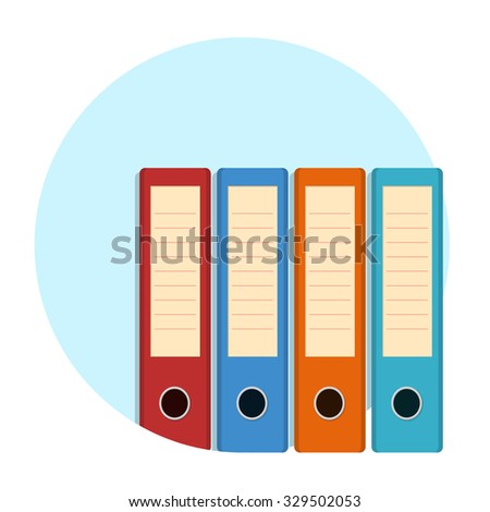 flat Vector icon - illustration of files icon isolated on white - stock vector