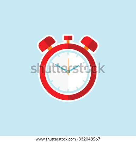 Flat vector icon of Alarm Clock. - stock vector