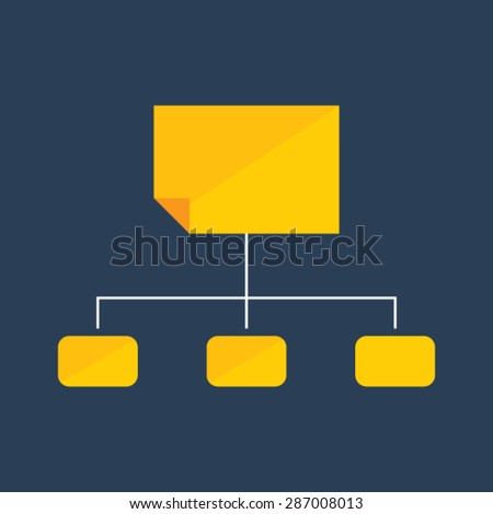 Flat vector icon of Sitemap for Mobile & Computer - stock vector