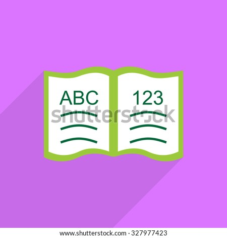 Flat vector icon with shadow and modern design ABC-book - stock vector