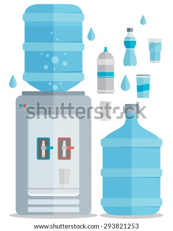 Flat vector icons set for water.  - stock vector