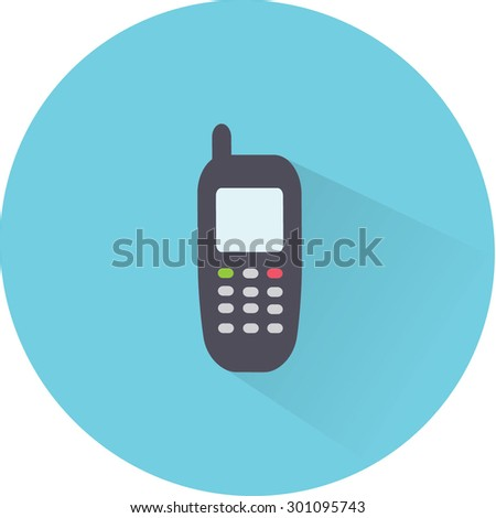 Flat Vector Phone Icon - stock vector