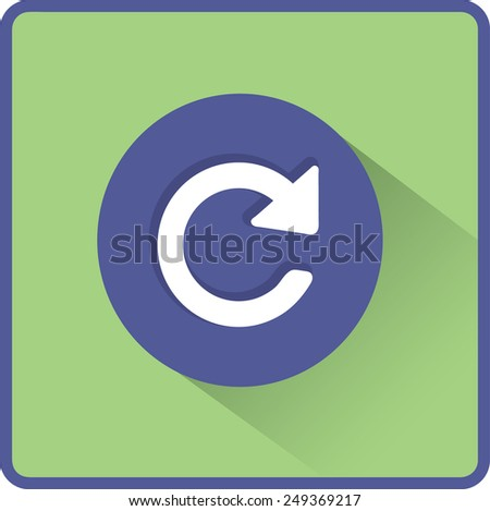 Flat Vector Update icon - stock vector