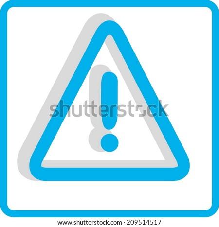 Flat Vector Warning Icon - stock vector