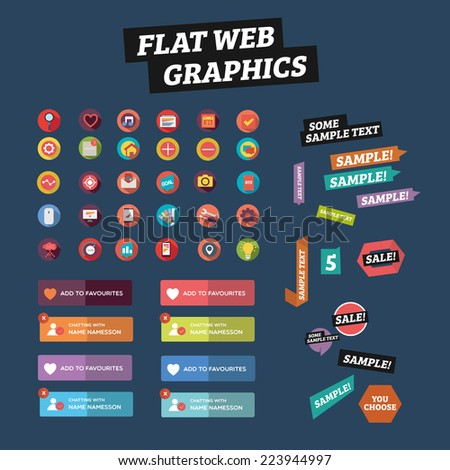Flat web graphics - stock vector