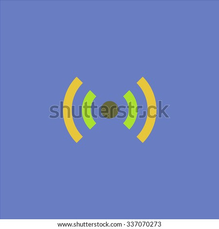 Flat Wi-Fi. Icon Vector. Icon Picture. Icon Graphic. Icon Art. Icon JPG. Icon JPEG. Icon EPS. Icon AI. Icon FLAT. Icon SIMPLE - stock vector