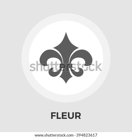Fleur icon vector. Flat icon isolated on the white background. Editable EPS file. Vector illustration. - stock vector
