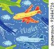 Flight background - stock vector