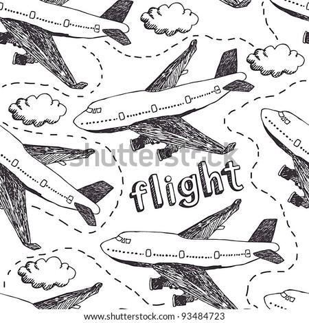 Flight pattern - stock vector