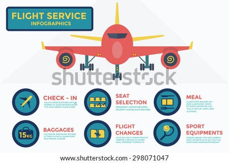 Flight service infographics,vector,illustration. - stock vector