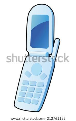 Flip Cellphone vector - stock vector