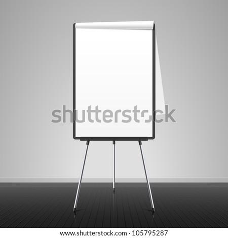Flip chart. Vector. - stock vector