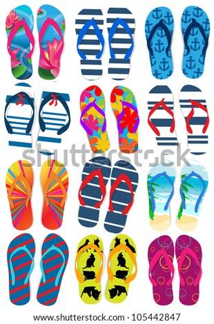 Flip flops - stock vector