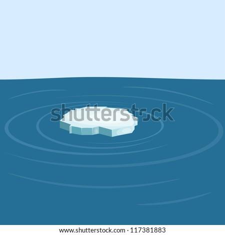 Floe in the sea. yeps10 - stock vector