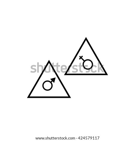 floor signs icon - stock vector