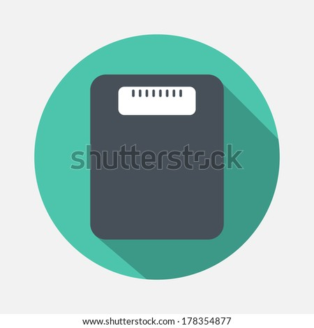 floor weight icon - stock vector