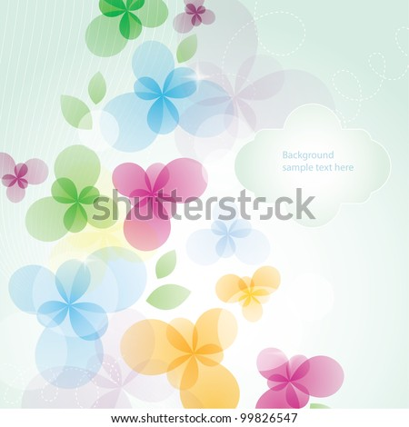 Flora background. Card for mothers day. - stock vector