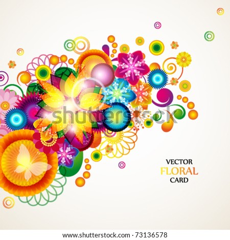Floral abstract background. eps10 - stock vector