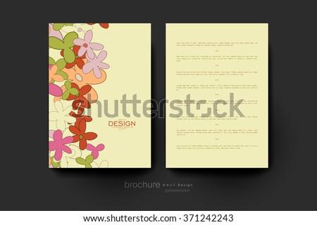floral abstract vector brochure template. Flyer Layout. Creative modern design - stock vector