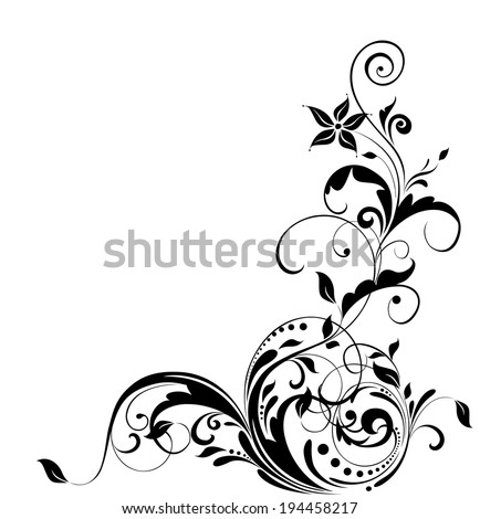 Floral adornment - stock vector