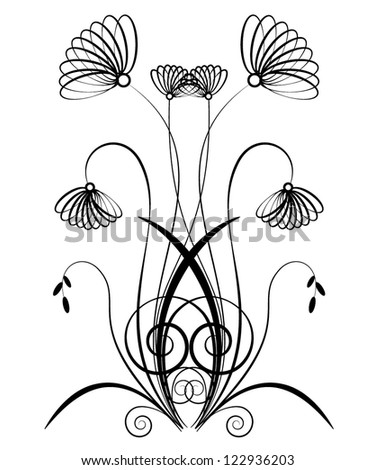 Floral background. Beauty floral illustration. - stock vector