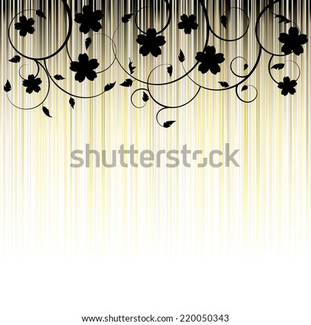 Floral Background, ornament, leaves - stock vector