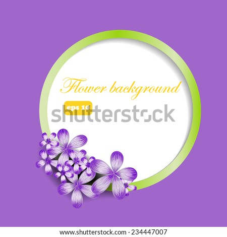 floral background with a round scope. Vector illustration - stock vector