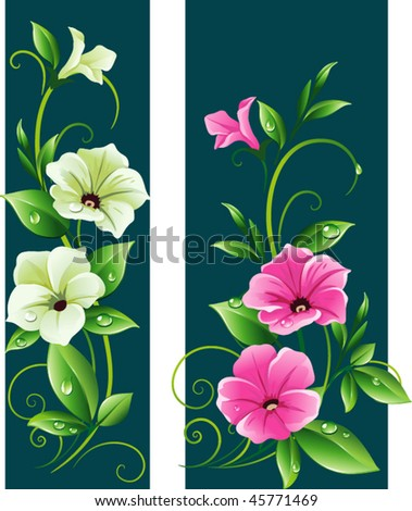Floral banner - stock vector