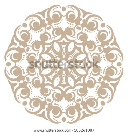 Floral beautiful ornament - stock vector