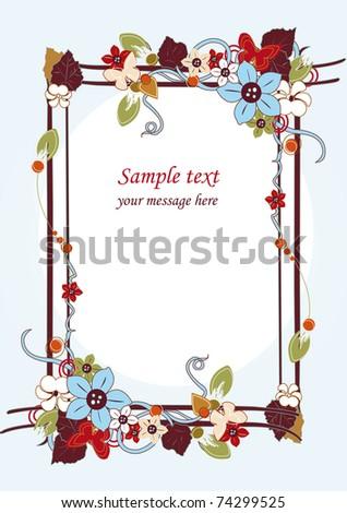 floral border vector illustration - stock vector