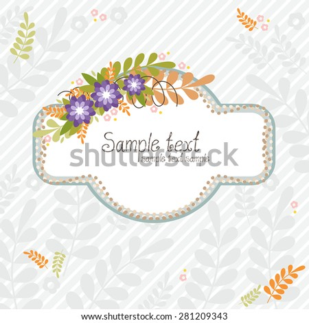 Floral bouquets. The vector frame for design. - stock vector