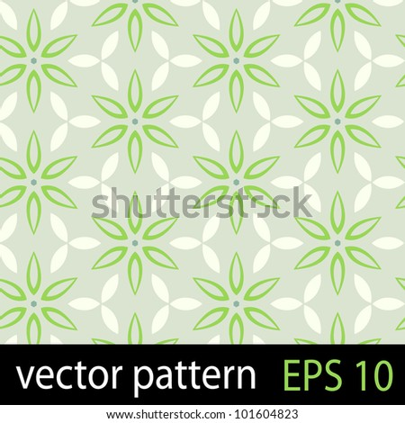 Floral colorful pattern. Seamless vector background - stock vector
